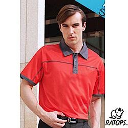 【瑞多仕-RATOPS】男款 布領休閒POLO衫_DB8342 桔磚/深鐵灰 V
