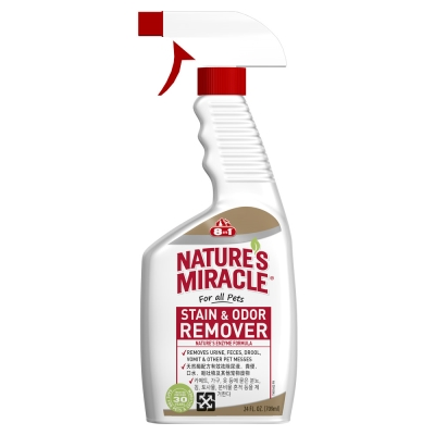 美國8in1 自然奇蹟 - 天然酵素去漬除臭噴劑(無香味) 24oz /709ml