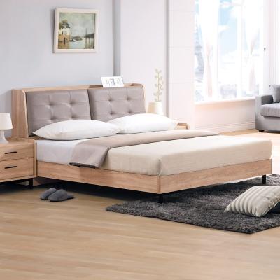 Boden-路克6尺北歐風雙人加大床組(床頭箱+床架)(不含床墊)