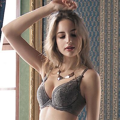 華歌爾 伊珊露絲夢幻花園 DE90-100 罩杯內衣(優雅褐)性感豐胸