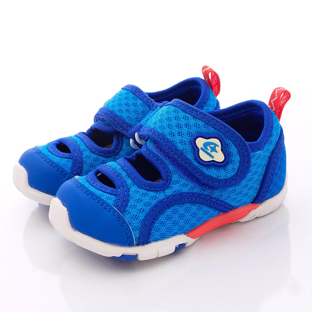 日本Carrot機能童鞋-新夏透氣機能款-CB785藍(寶寶段)HN