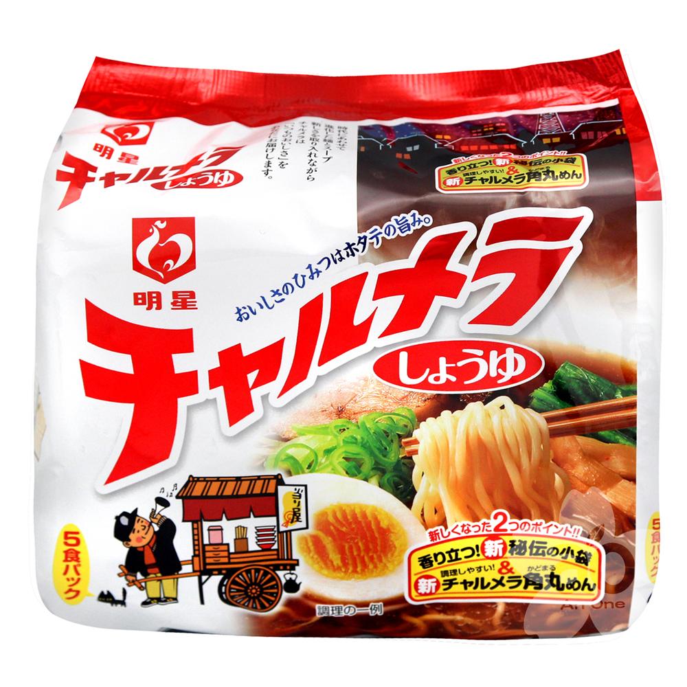 明星食品  風笛5入包麵-醬油(485g)