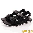 GP時尚涼拖-磁扣兩穿休閒涼鞋 EI660M-10黑(男段)