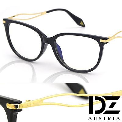 DZ-獨具鏤葉線-防輻平光眼鏡-酷黑