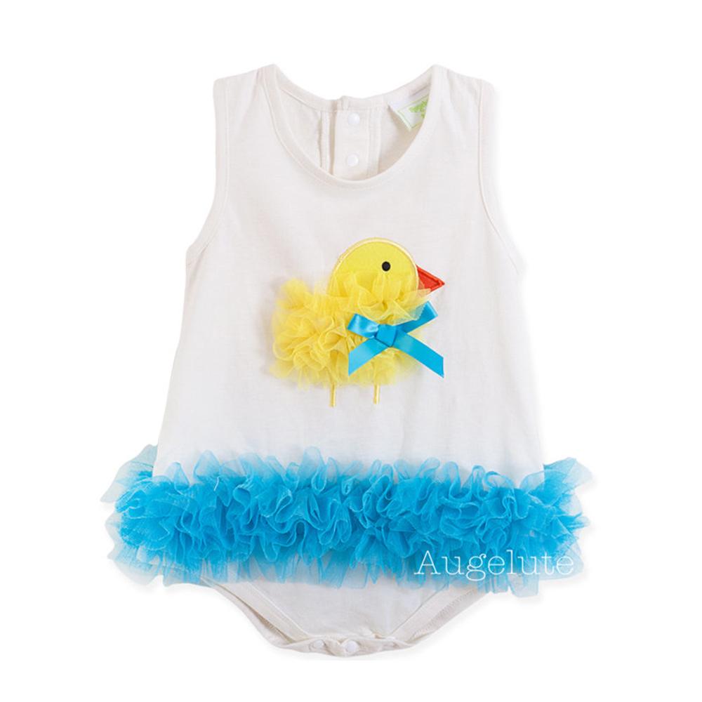baby童衣 Q版小雞無袖包屁衣32145