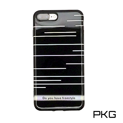 PKG Apple IPhone 7+8+PLUS 保護殼(高質感雷射條紋)