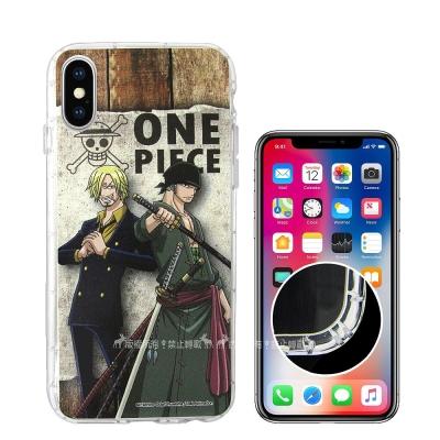 航海王夥伴系列 iPhone X 空壓殼(香吉士&索隆)