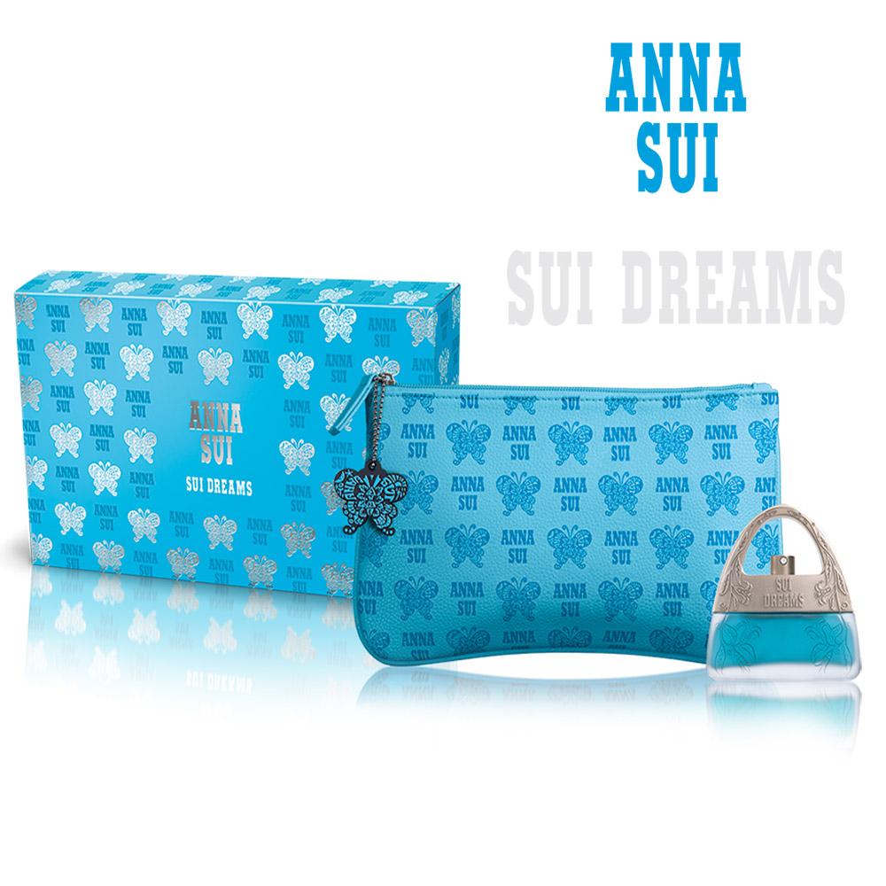 ANNA SUI 安娜蘇 甜蜜夢境蝴蝶禮盒-淡香水30ml+化妝包