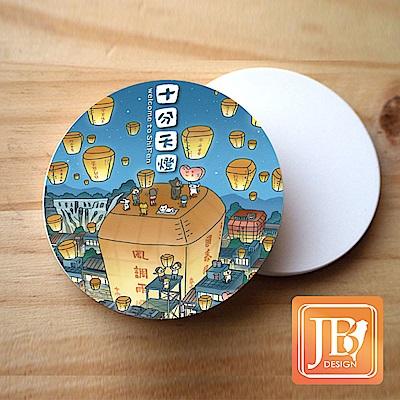 JB Design_就是愛台灣杯墊圓磁鐵-750_風調雨順天燈