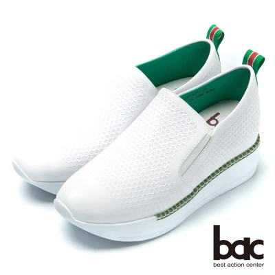 bac樂活時尚 舒適厚底休閒鞋-白