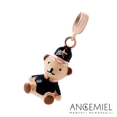 Angemiel安婕米串珠 925純銀吊飾 英倫小熊