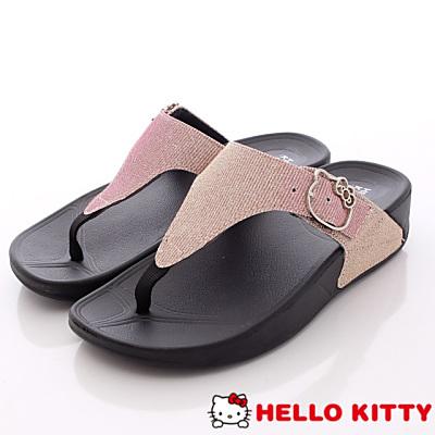 Hello Kitty-閃亮金蔥夾腳款-NI16120粉(女段)
