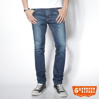 5th STREET 本質詮釋 1965清涼窄直筒牛仔褲-男款(中古藍)