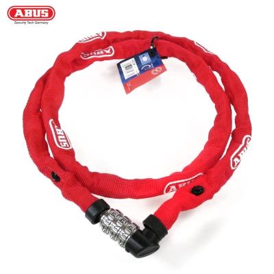ABUS 德國防盜鎖 1200web Combo Chain 110cm單車密碼鎖-紅