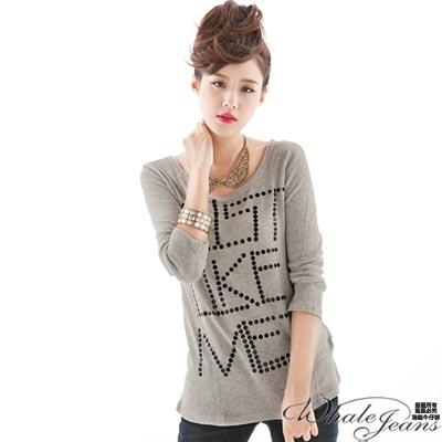 WHALE JEANS 暢銷甜美秋款造型針織衫(2色)