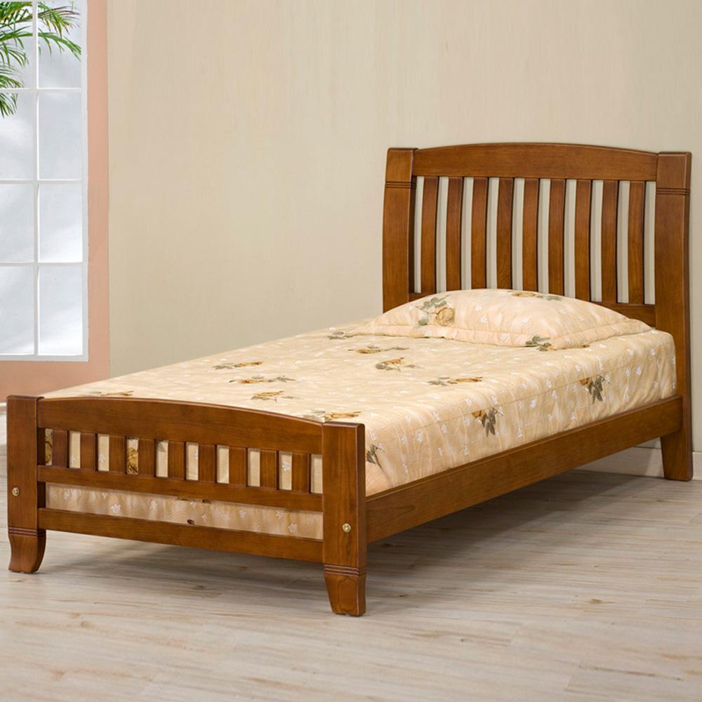 《Homelike》亞倫實木床架-3.5尺單人