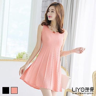 LIYO理優洋裝顯瘦針織洋裝(淺橘,黑)