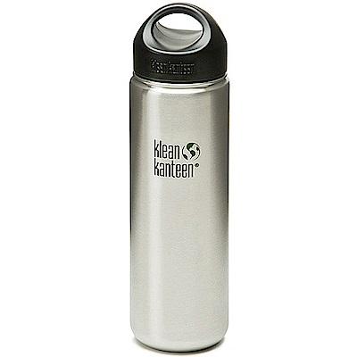 美國Klean Kanteen 寬口不鏽鋼冷水瓶 800 ml 原鋼色