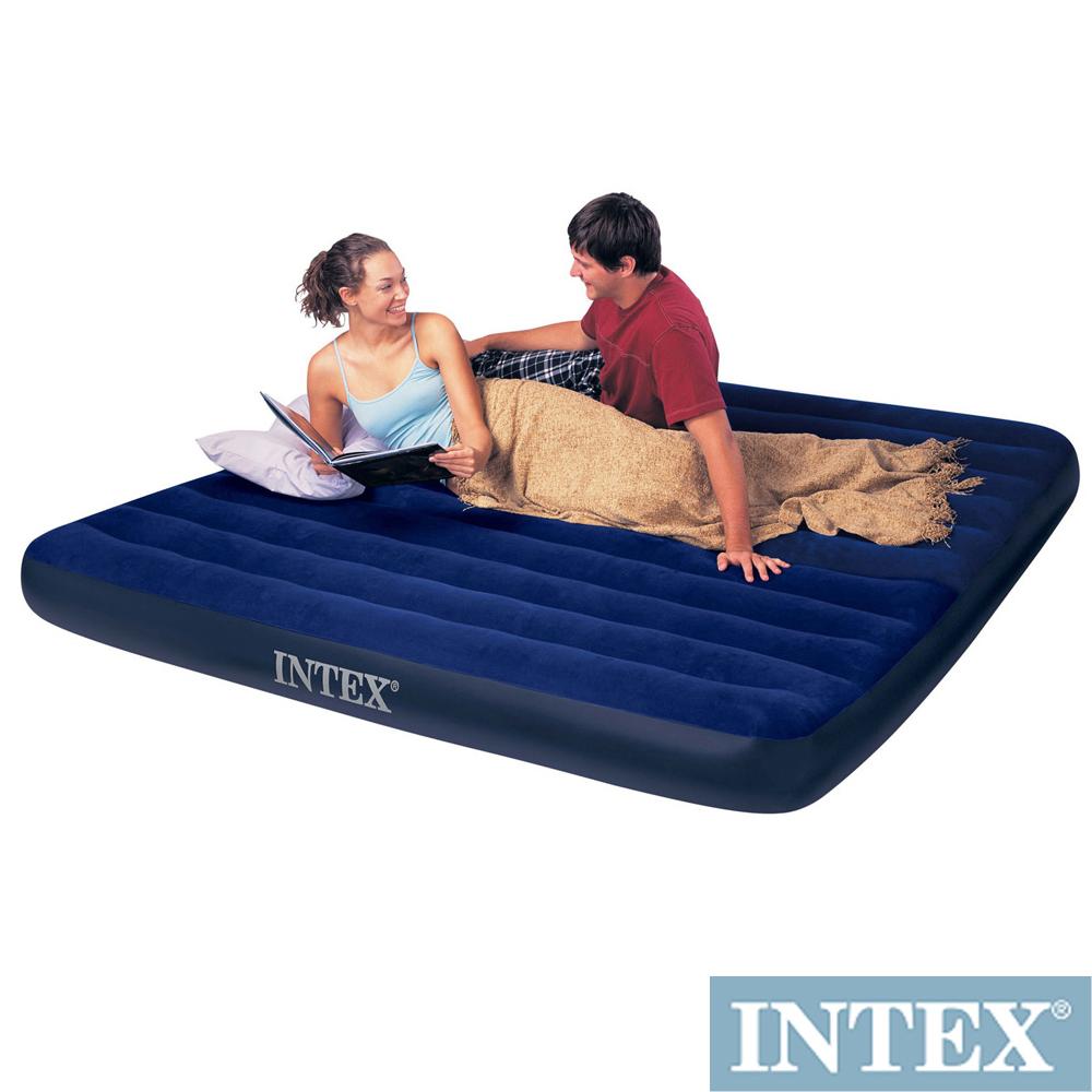 INTEX 雙人超大型植絨充氣床墊-寬183cm (68755)