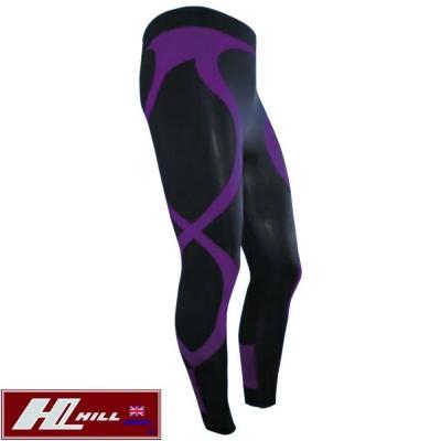HILL-女款-Plus運動-路跑-涼感壓縮褲-壓