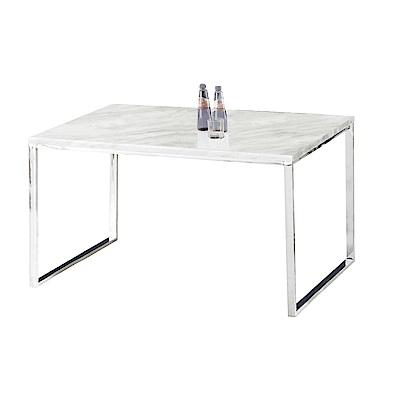 品家居舒森4.3尺雲紋石面餐桌二色可選-130x80x75cm免組