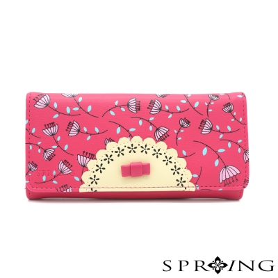 SPRING-花樣甜心派對長夾-桃紅