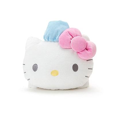 Sanrio HELLO KITTY毛巾布趴趴造型玩偶靠墊(晚安)