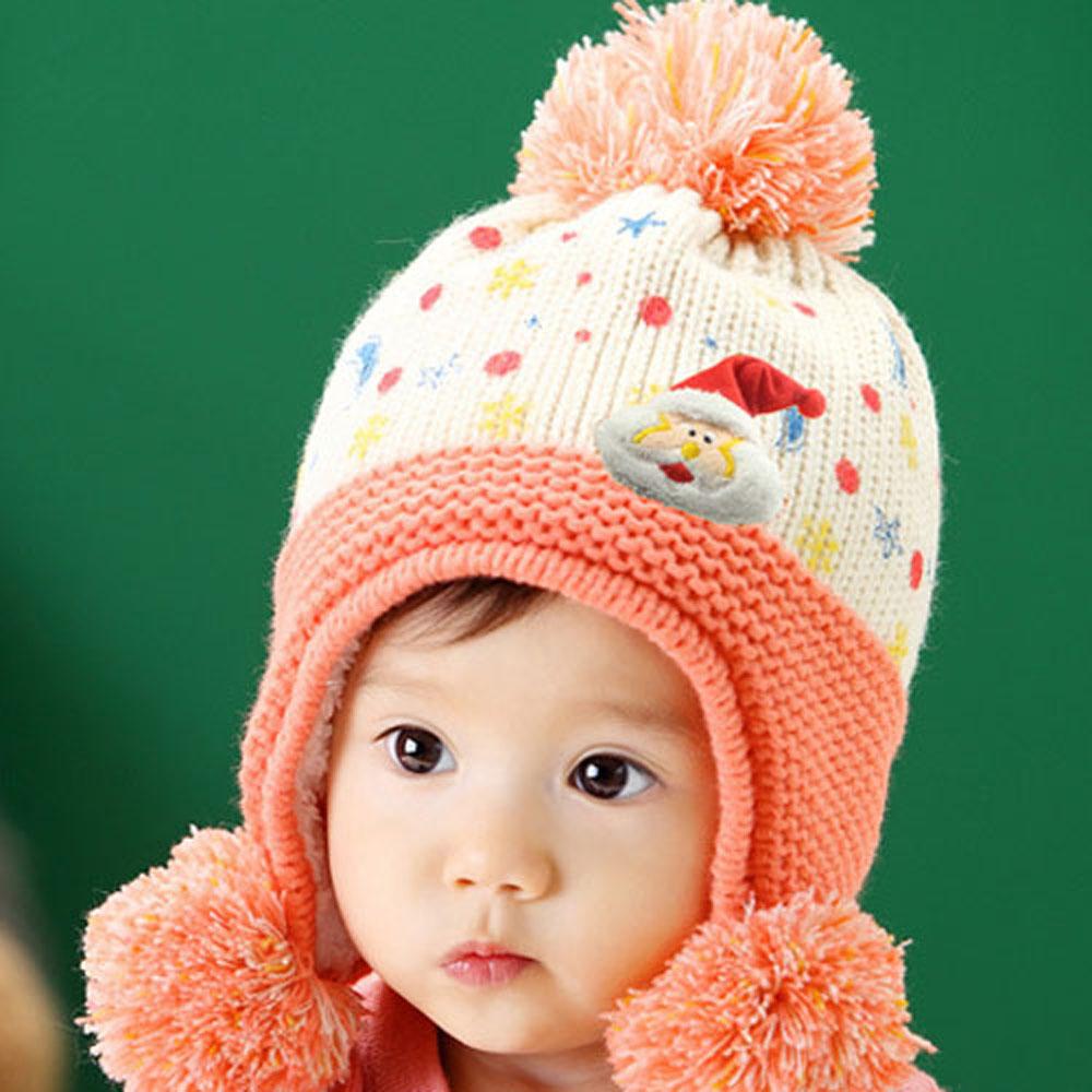 韓版-繽紛絢麗聖誕保暖帽 product image 1