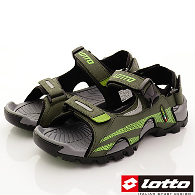 Lotto樂得-野趣戶外涼鞋款-FI215灰綠(男段)