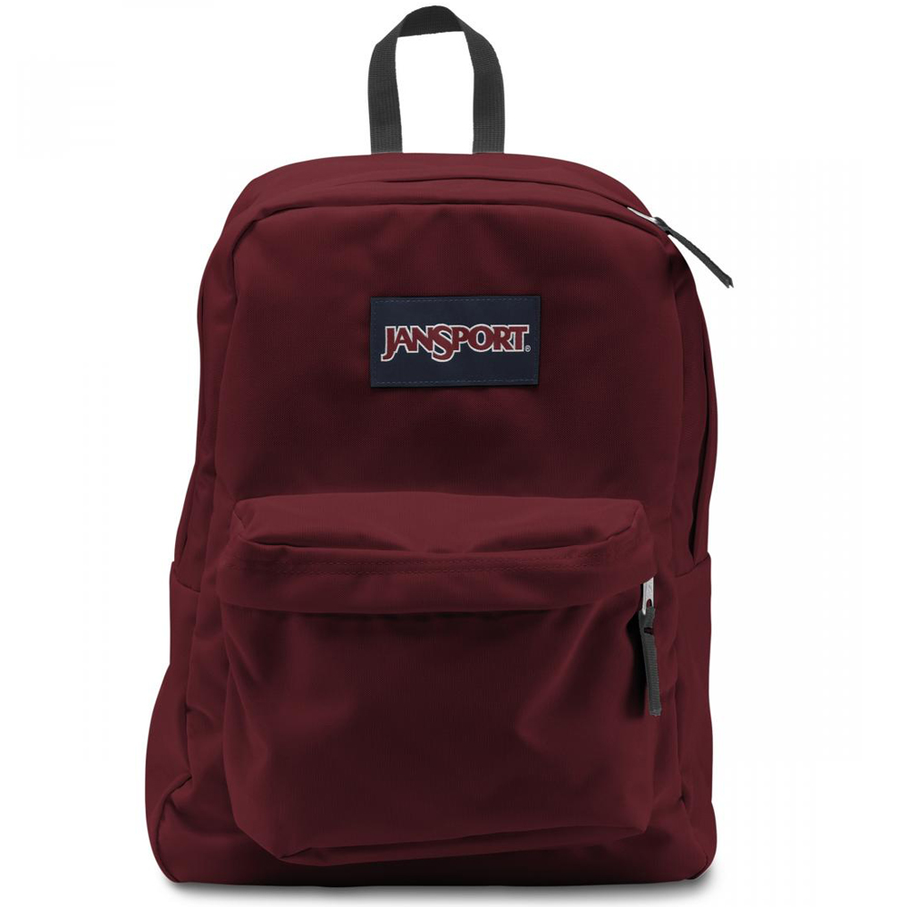 JANSPORT-SUPERBREAK系列校園後背包-聖誕紅