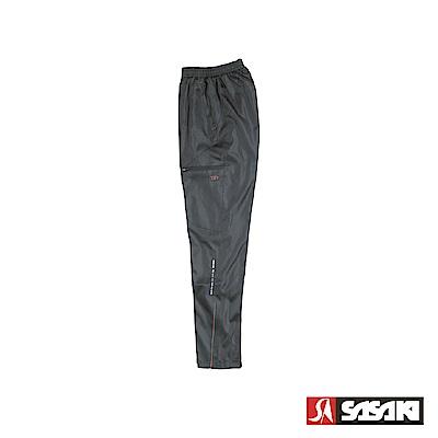 SASAKI 多功能保暖熱身運動長褲-男-黑/果綠
