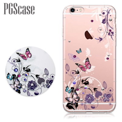 PGS iPhone 6s / 6 4.7吋 奧地利彩鑽防摔手機鑽殼-蝶舞