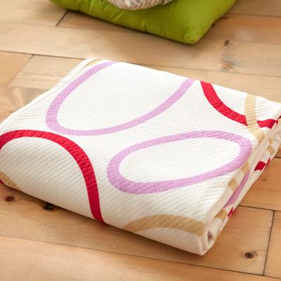 美夢元素 純棉針織天然纖維透氣涼毯-100*150cm (圓舞曲)