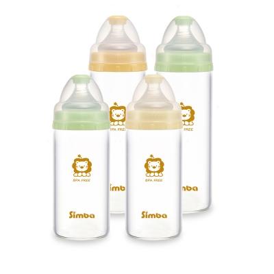 小獅王辛巴 超輕鑽寬口直圓玻璃奶瓶超值組(2大2小)