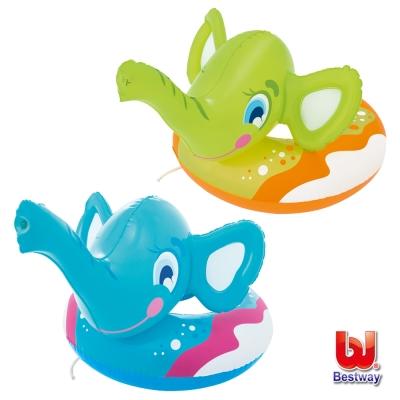 《凡太奇》Bestway。象鼻造型充氣噴水泳圈-藍/綠(隨機出貨)