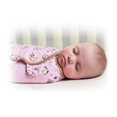 美國 Summer Infant 嬰兒包巾 懶人包巾薄款 -純棉L 親親小猴