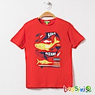 bossini男童-印花短袖T恤21橘