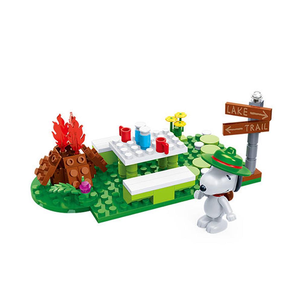 任選 BanBao邦寶積木 史努比系列 Peanuts Snoopy 野餐趣 7516