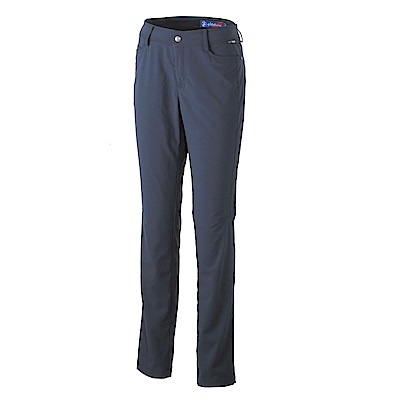 【Wildland 荒野】女彈性耐磨抗UV合身長褲-深藍