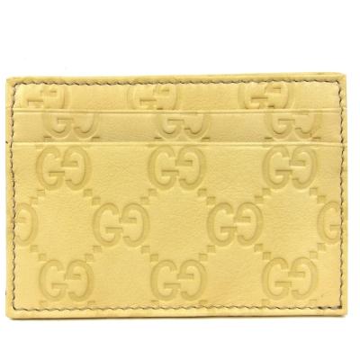 GUCCI Guccissima 雙層皮革名片夾(黃)