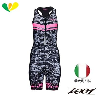 ZOOT 數位迷彩限定版連身鐵人服(女)(螢光粉) Z1706034