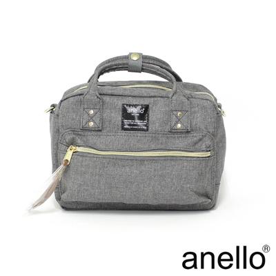anello 獨特混色花紋手提斜背兩用包 灰色