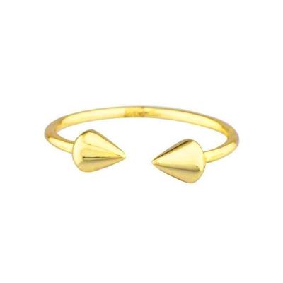 SHASHI 紐約品牌 SPIKE RING 鉚釘戒指 立體亮面 925純銀鑲18K金