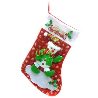 17吋聖誕快樂字牌雪人 聖誕襪/耶誕襪
