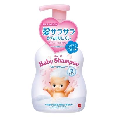 日本牛乳石鹼-裘比嬰兒泡沫洗髮精350ml(總代理)
