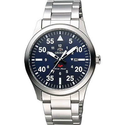 ORIENT 東方錶 SP 系列 飛行運動石英錶-藍x銀/42mm
