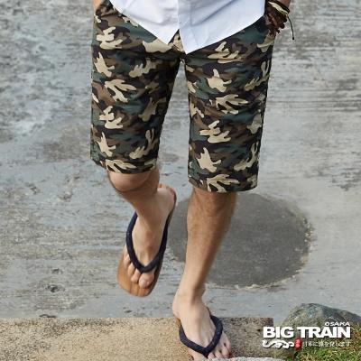 BIG TRAIN中大尺碼 加大雙面穿五分褲-男-灰綠