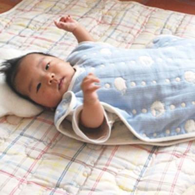 【麗嬰房】Hoppetta 六層紗可愛動物防踢被 (天空藍)