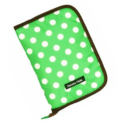 日本Hanna Hula-多用途手冊包-親子手冊/健保卡等(圓點綠)