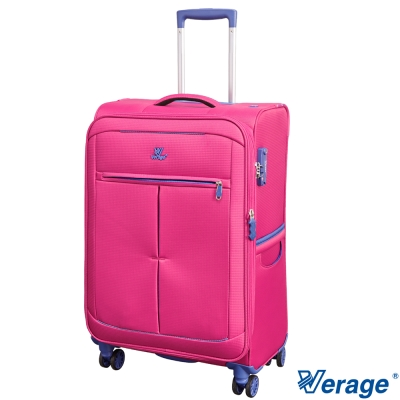 Verage 維麗杰 24吋 超輕量經典格紋環保旅行箱三代(紅)